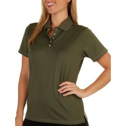 Pebble Beach Womens Polo Solid Short Sleeve
