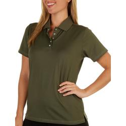 Womens Polo Solid Short Sleeve