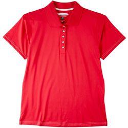 Pebble Beach Womens Polo Solid Short Sleeve Top