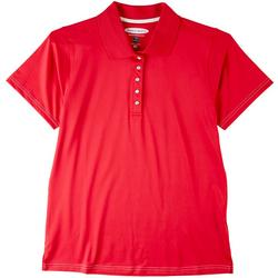 Womens Polo Solid Short Sleeve Top