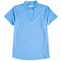 Pebble Beach Plus Solid & Striped Active Top
