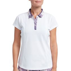 Pebble Beach Womens Contrast Collar Polo Shirt
