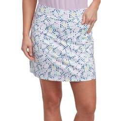 Pebble Beach Womens Dotted Print Skort