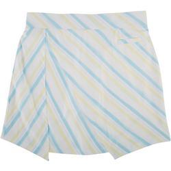 Womens Diagonal Stripe Pull On Skort