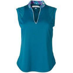 Womens Colorblock Sleeveless Shirt