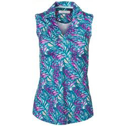 Womens Floral Collared Top