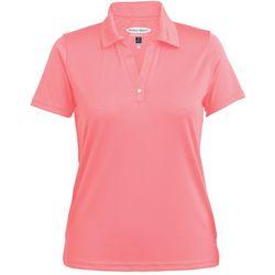 Pebble Beach Womens Core Solid Polo Shirt