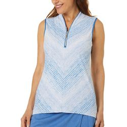 Greg Norman Womens Panorama 1/4 Zip  Sleeveless Polo