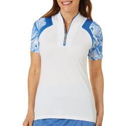 Greg Norman Womens Viceroy Colorblocked Polo Shirt