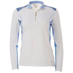Greg Norman Womens Colorblock Long Sleeve Top