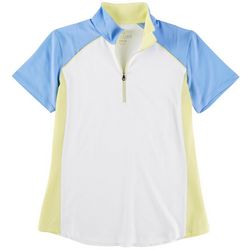 Kate Lord Womens Colorblock Polo Shirt