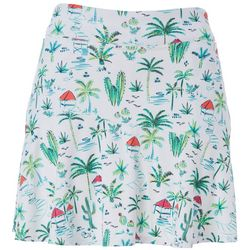 Lillie Green Womens Paradise Flounce Pull On Skort