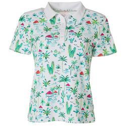 Womens Paradise Scene Golf Polo Shirt
