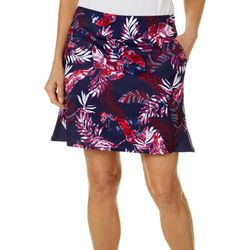Womens Tropical Print Pull On Skort