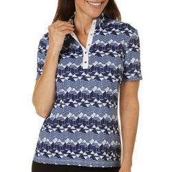 Coral Bay Golf Womens Geometric Martini Polo Shirt