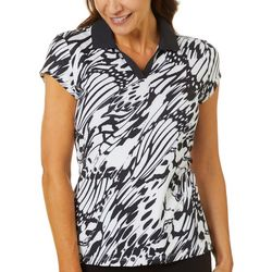 Coral Bay Golf Womens Butterfly Wings Print Polo Shirt