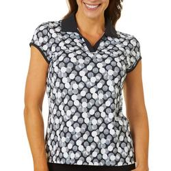 Womens Dot Geo Polo Shirt
