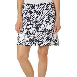 Womens Butterfly Wings Print Flared Skort