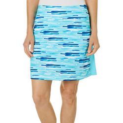 Womens Cool Stripes Print Pull On Skort