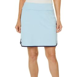 Coral Bay Golf Womens Solid Tulip Hem Skort