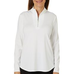 Coral Bay Golf Womens Solid Long Sleeve Polo Shirt