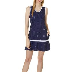 Lillie Green Womens Tee Time Sleeveless Dress