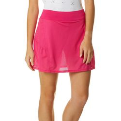 Lillie Green Womens Mesh Overlay Pull On Skort