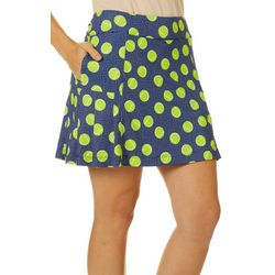 Lillie Green Womens In You're Court Flounce Pull On Skort