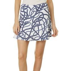 Lillie Green Womens Rope Asymmetrical Flounce Pull On Skort