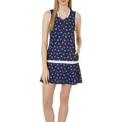 Lillie Green Womens What's The Racquet Sleeveless Dress