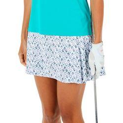 Lillie Green Womens Pull-on Golf Skort