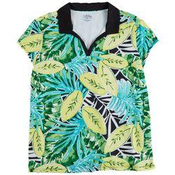Coral Bay Golf Womens Lemon Foliage Polo Shirt