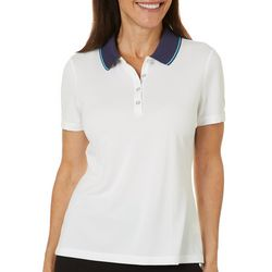 Coral Bay Golf Womens Contrast Collar Sleeve Polo