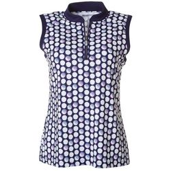 Coral Bay Golf Womens Golf Dots Polo Shirt