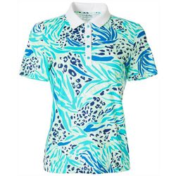 Coral Bay Golf Womens Jungle Animal Polo Shirt