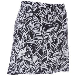 Coral Bay Golf Womens Tropical Palm Leaf Print Skort