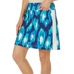 Coral Bay Golf Womens Ikat Print Skort