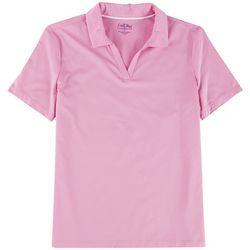 Coral Bay Golf Womens Textured Polo Shirt