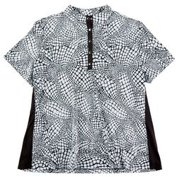 Coral Bay Golf Womens Printed Short Sleeve Top