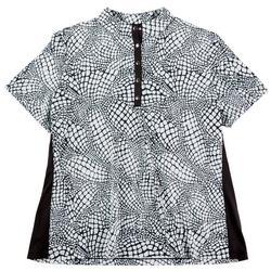 Womens Printed Short Sleeve Top