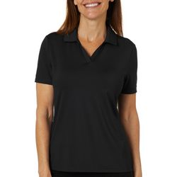 Coral Bay Golf Womens Solid Short Sleeve Polo Shirt