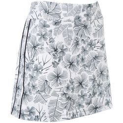 Coral Bay Golf Womens Floral Print Pull On Skort