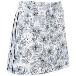 Womens Floral Print Pull On Skort