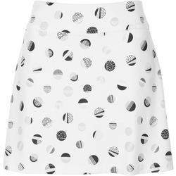 Womens Back Pleated Dot Skort