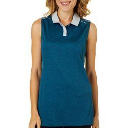 Oakley Womens Balata Colorblock Sleeveless Polo Shirt