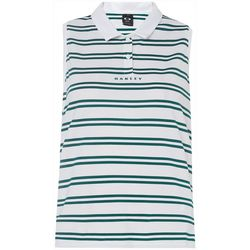 Oakley Womens Enjoy Striped Sleeveless Polo Shirt
