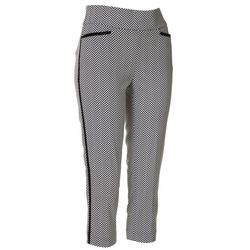 Callaway Womens Striped Chevron Pull-On Capris