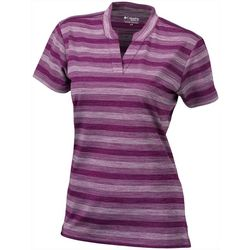 Columbia Golf Womens Striped Chatter Polo Top
