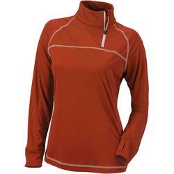Columbia Golf Womens Long Sleeve Shirt With 3/4 Zipper