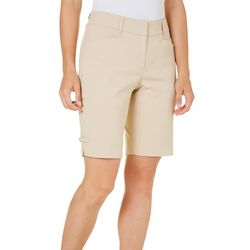 Womens Bengaline Solid Shorts